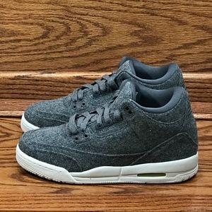 Nike Air Jordan 3 Retro Wool BG Dark Grey Shoes